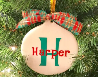 Personalized Ornament, Monogrammed Ornament, Gift for child, Christmas Ornament