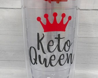 Personalized Coffee Cup, Keto Queen, Keto gift