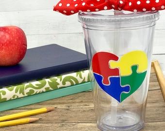 Autism Awareness Cup, Autism puzzle piece, Autism gift