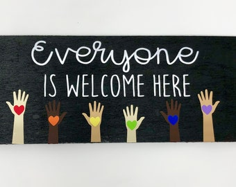 Everyone Is Welcome Here, All Are Welcome, classroom Decor, Teacher Gift, Back to School