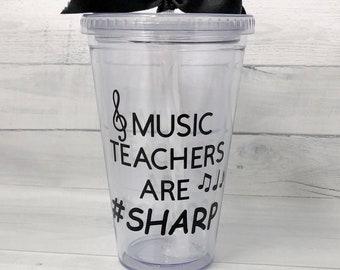 Music teacher, Christmas gift for teacher, personalized teacher gift, teacher appreciation gift