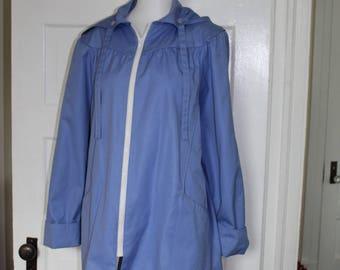 Nordstrom Town Square vintage perriwinkle hooded jacket
