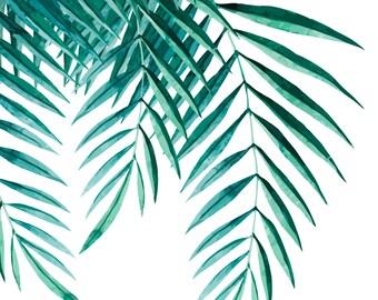 Palm Leaf Print Wall Art