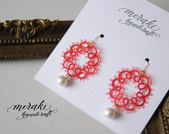 Luxurious Corsage (Red),  Earrings