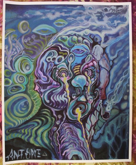 "Canvas paper print of ""Mushroom Morphis"" 12""x15"""