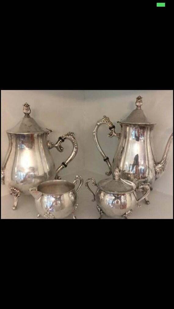 Vintage Leonard Silver Plate Tea Set/ Silver Plate Coffee | Etsy