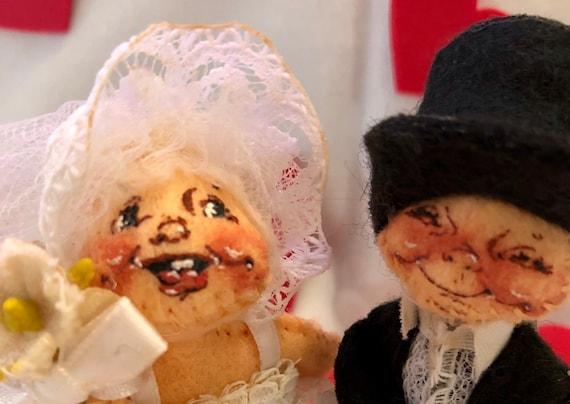 Vintage Annalee Bride And Groom Dolls/ 3 Bride And Groom   Etsy