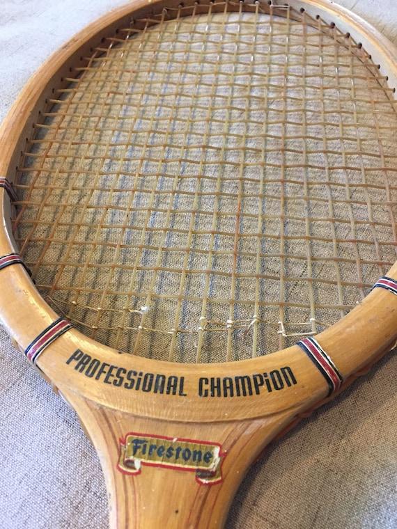 Tennis Racquet Sale >> On Sale Vintage Tennis Racquet Professional Champion Tennis Racket Racquet Firestone Unique
