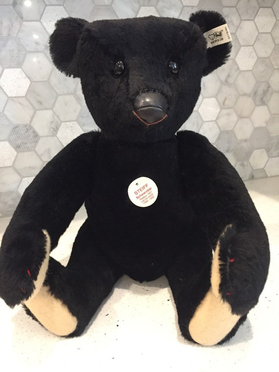 Steiff Large Black Bear Limited Edition 1907 Replica Etsy
