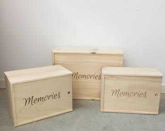 Wooden Memory/Keepsake Box/Gift Box