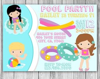 Pool Party Invitation (Digital)