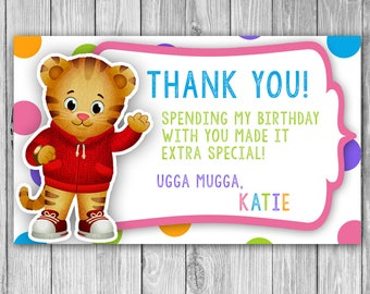 Daniel Tiger Thank You Note/Card
