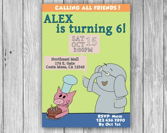 Elephant and Piggie Invitation (Digital)