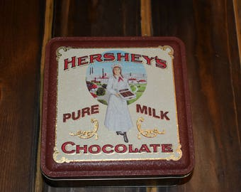 Hershey's pure milk chocolate tin