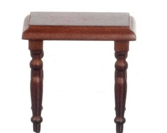 Dollhouse Miniature Walnut Side Table