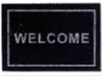 Dollhouse Miniature Black Welcome Mat