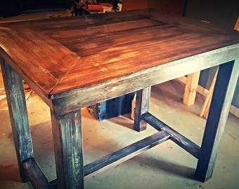 Pub Style Table   Bar Table   Farmhouse Style Table   HGTV   Low Shipping    Custom Sizes