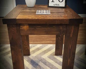 Farm House Rustic X Style Coffee Table And End Table Low Etsy