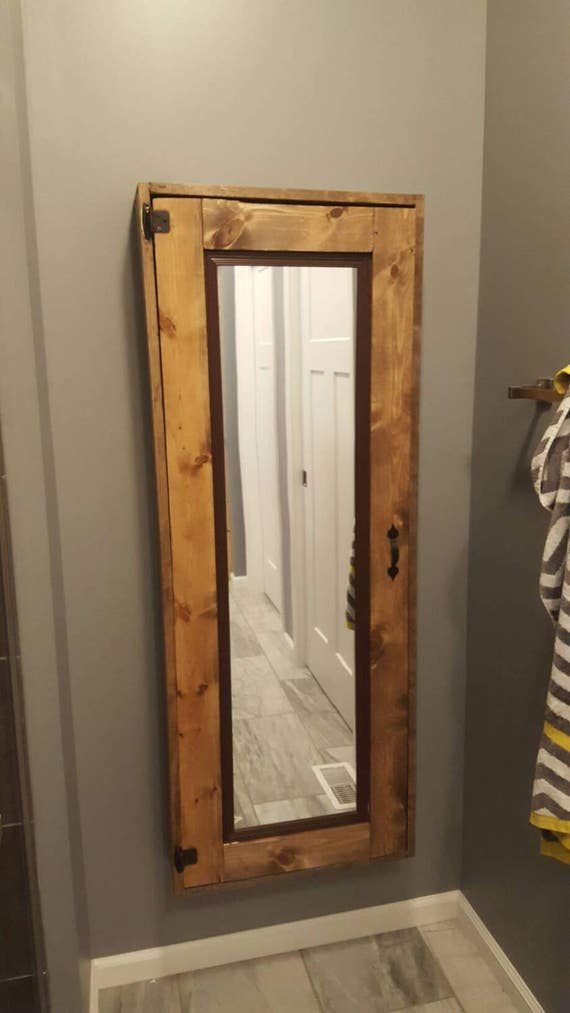 superb Medicine Cabinet Etsy Part - 3: Rustic 5ft Wooden medicine cabinet with 5 shelfs and a built | Etsy