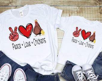 I Love Heart Chicken Nuggets Pink Kids T-Shirt