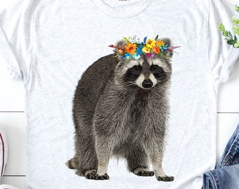 Cute Raccoon with A Scarf Womens T-Shirt