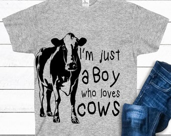 478d85da I'm Just A Boy Who Loves Cows Shirt, Cow T-Shirt,