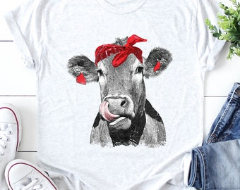 923a86fe3801 Cow Kisses, Funny Ladies T-Shirt- Moo Cow Funny Tee- Funny Ladies Shirt- Cow  Shirt- Surprise, Cow lover, Cow Tee, Youth Cow Shirt