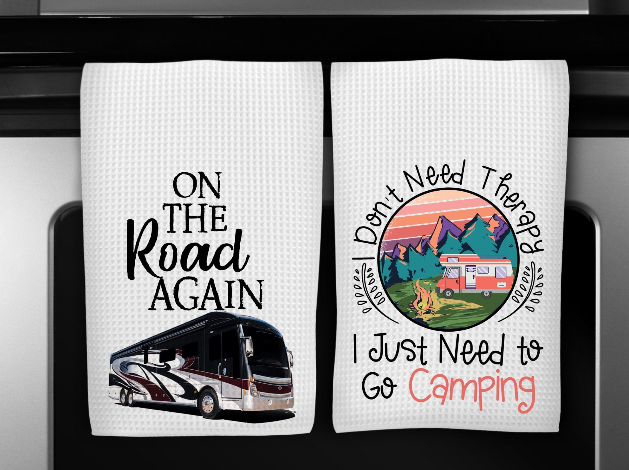 Camping Dish Towels Funny Kitchen Towels Kitchen Decor