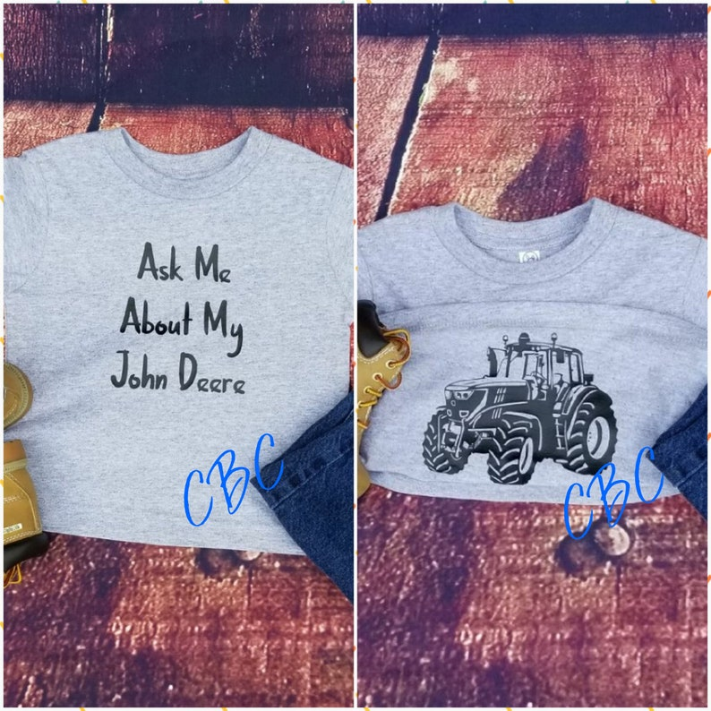 ab033e0f Ask Me About My John Deere 4.0 Kids Farm Shirt John Deere | Etsy