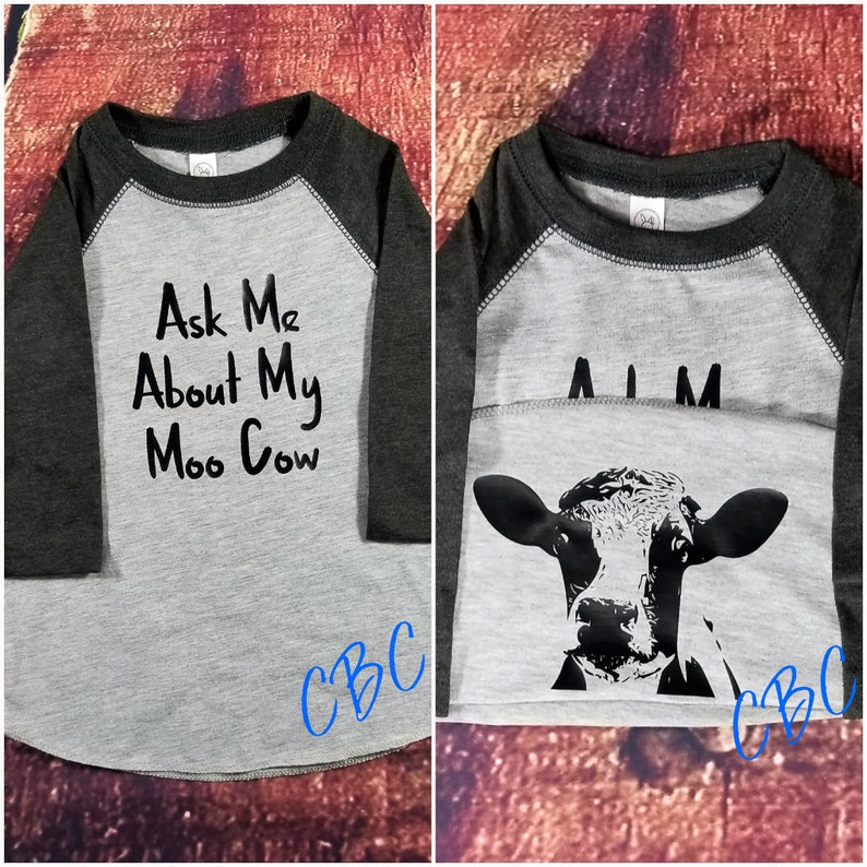 c0babd6a Ask Me About My Moo Cow Shirt Funny Kids T-Shirt Moo Cow | Etsy