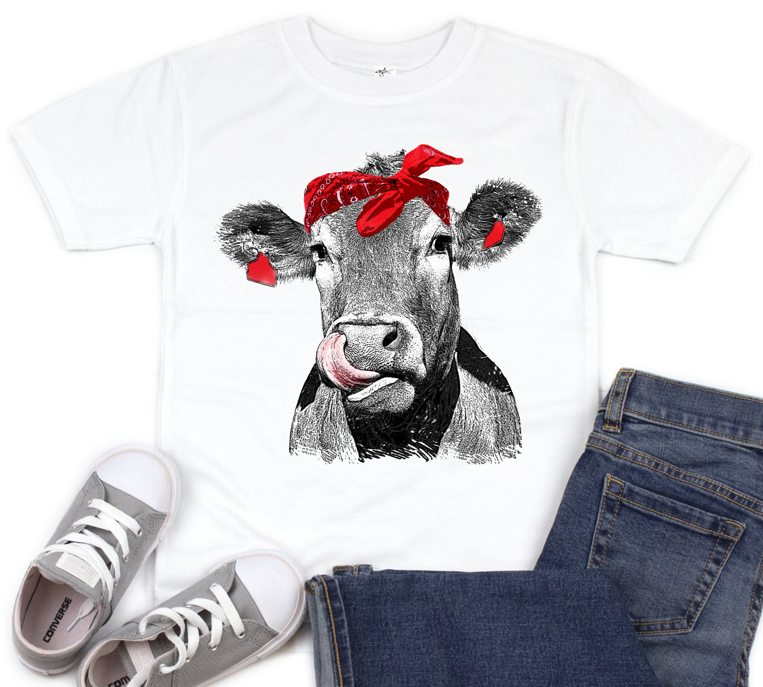 4d3446de Cow Kisses kids Shirt, Cow Shirt, Licking Cow, Cow Lover, Funny Cow, Infant  Cow, Cow With Bandanna, Farm, Country, Girls, Kids Cow Shirt