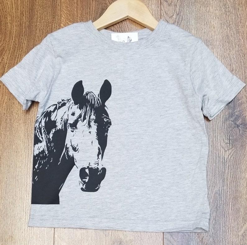 c5f8219ba Horse Tee Kids Horse T-Shirt Kids T-shirt Farm Shirts   Etsy