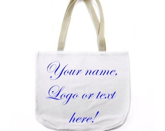 Tote Bag Canvas Custom Photo Logo Text Personalized Market Bag Canvas Bag Gift Party Wedding
