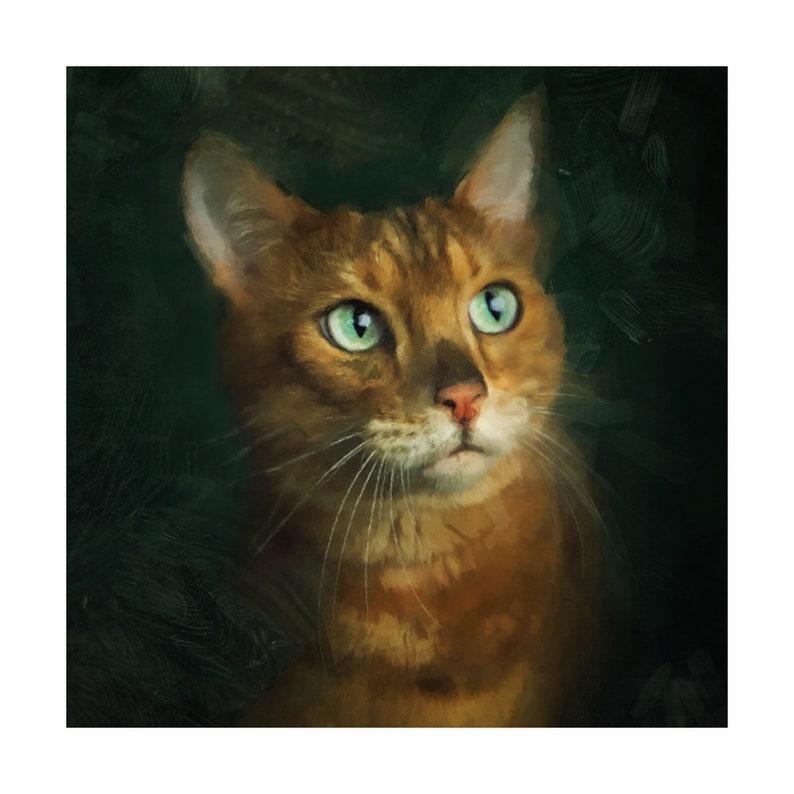 Custom made Pet Portrait Custom dog portrait An unique gift for pet lovers Pet cat portrait Custom pet painting