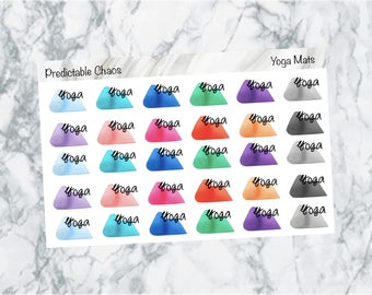 Yoga functional, planner stickers