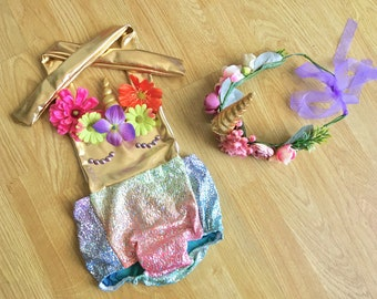 Baby Swimwear Baby Swimsuit Toddler Swimsuit Girls Swimsuit Kids Mermaid Bathing Suit First Birthday Outfit Costume Unicorn Swimsuit