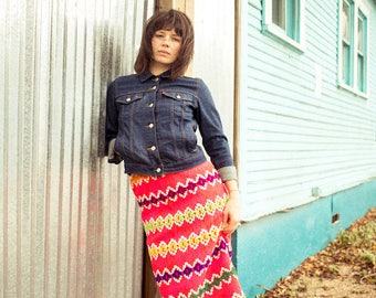 Vintage Knit Maxi Skirt