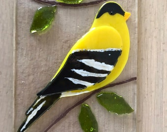 Gold Finch suncatcher