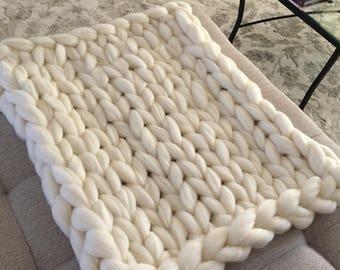 Custom Baby Blanket - Chunky Merino Wool