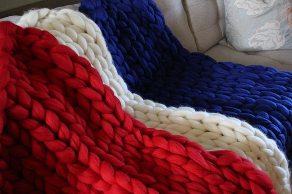 Chunky Merino Wool BlanketThrow Etsy Extraordinary Merino Wool Blanket Throws