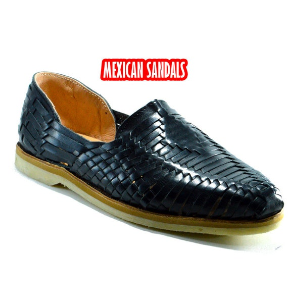 Fine leather mexican sandals for man