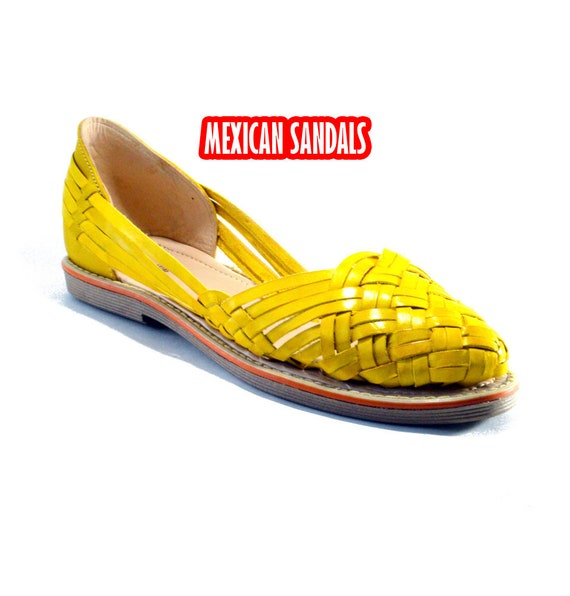 Fine leather mexican sandals for woman