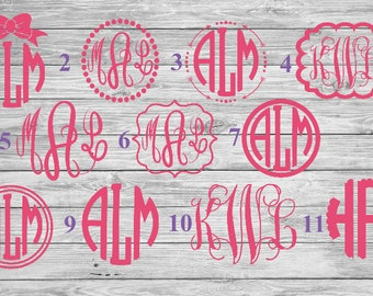 Monogram Decal| Monogram Sticker|Car Decal|Personalized Decal| Tumbler Decal|Laptop Decal| Yeti Decal| Preppy| Gift for Her| Initials| Stick