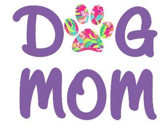 Dog Mom Decal|Lilly Paw Decal|Paw Print Decal| Fur Mom Decal| Vinyl Decal Sticker| Window Sticker| Yeti Sticker| Car Sticker| Lilly Inspired