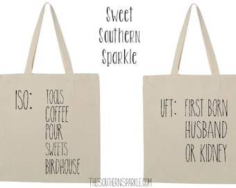 Rae Dunn Inspired| Shopping Bag| Canvas Tote| Shopping Tote| Cotton Bag| Gift for her| Tote Bag| Personalized Reusable Tote| Market Tote
