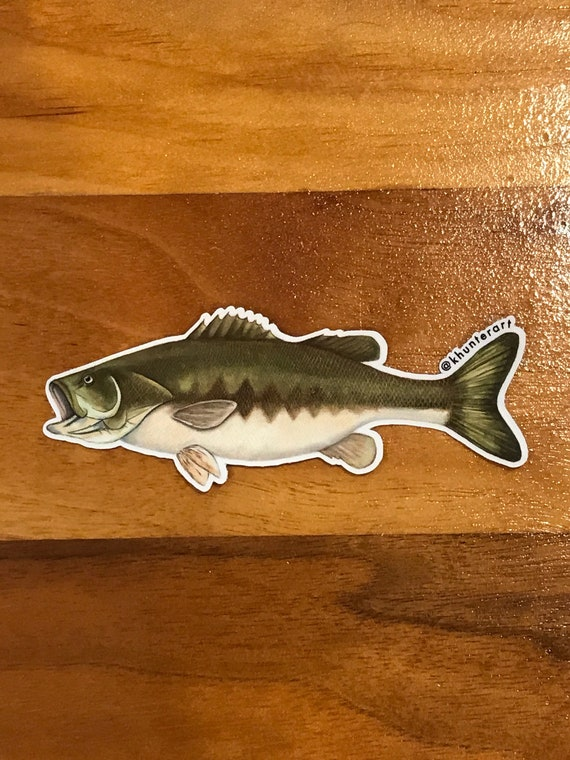 4 Large Mouth Bass Sticker Etsy