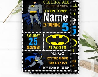 Batman invitations etsy instant download batman invitation batman invitesbatman superheroes dark knightbatman birthday invitationsuperhero birthday invitation stopboris Choice Image