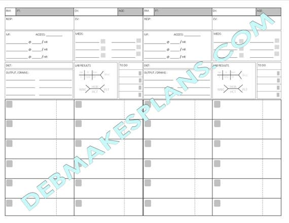 photograph relating to Printable Assignment Sheet known as Nurse Assignment Sheet Printable