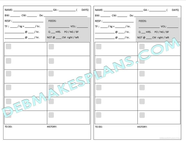 photo relating to Printable Assignment Sheet known as Nurse Assignment Sheet Printable