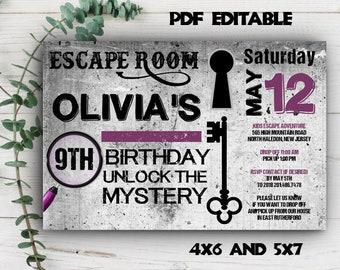 Escape Room Invite Etsy